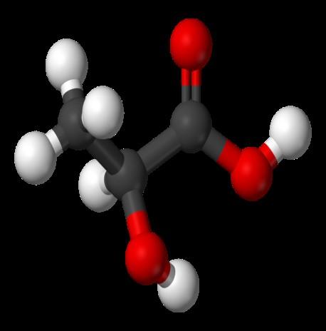 Схема соединения молочной кислоты